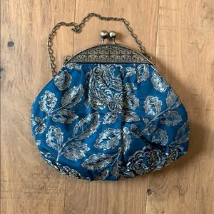 Handbags - Gorgeous clutch in deep teal with beads